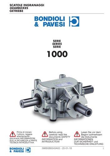 Standard Gearboxes - 1000 series