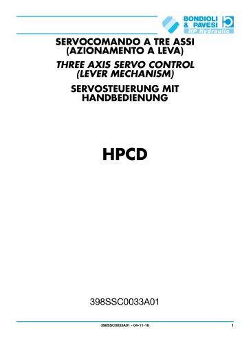 Three axis servo control (lever mechanism) - HPCD