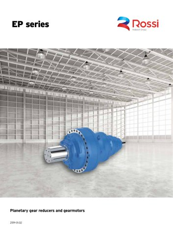 Planetary gear reducers and gearmotors Catalog EP