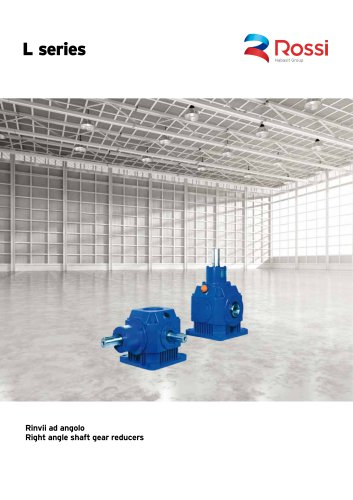 Right angle shaft gear reducers Catalog L99