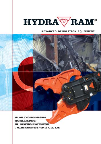 HYDRAULIC CONCRETE CRUSHERS HYDRAULIC ROTATING FULL RANGE FROM 1100 TO 8500KG