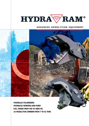 HYDRAULIC PULVERIZERS HYDRAULIC ROTATING AND FIXED FULL RANGE FROM 700 TO 3800 KG