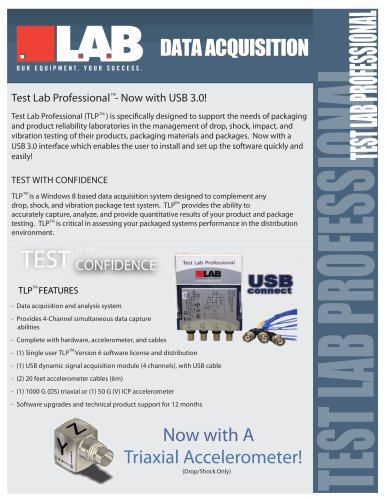 TestLab Professional? Drop/Shock v6 - USB
