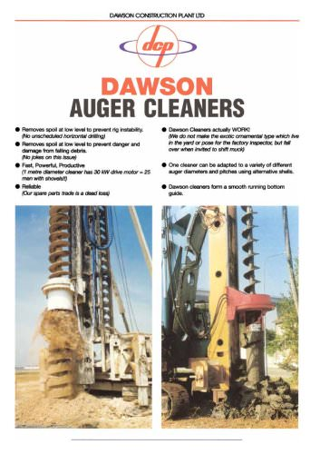 Auger cleaners
