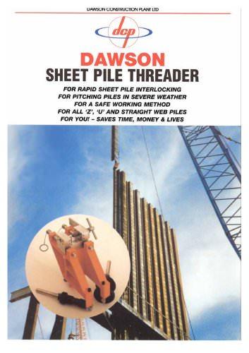 Sheet pile threader