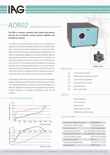 Data sheet pressure controllers_ADR
