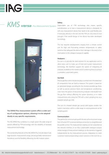 KMS VERSA-Plus measurement system