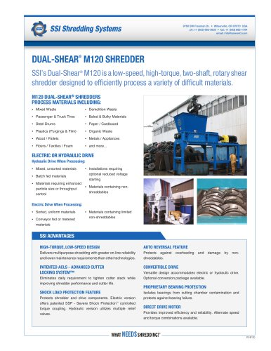 Dual-Shear® M120 Two-Shaft Shredder
