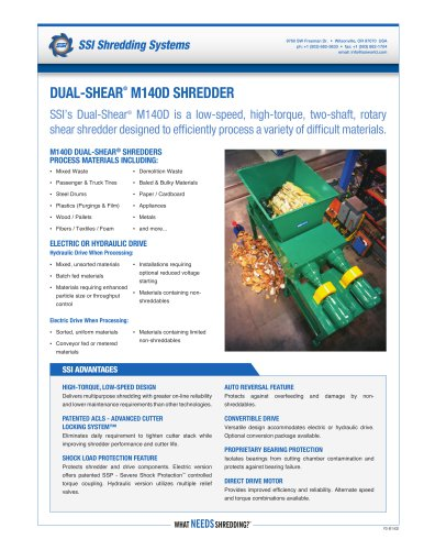 Dual-Shear® M140 Two-Shaft Shredder