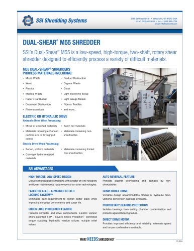 Dual-Shear® M55 Two-Shaft Shredder