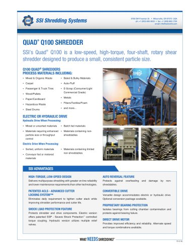 Quad® Q100 Four-Shaft Shredder