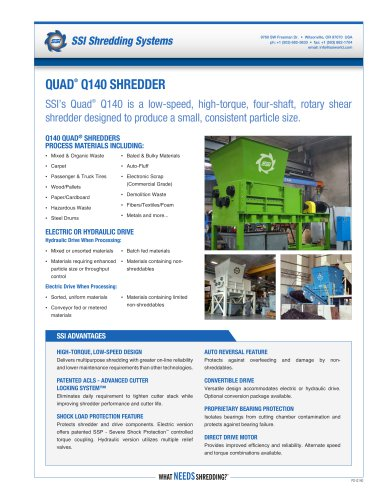 Quad® Q140 Four-Shaft Shredder