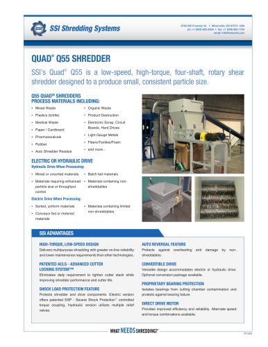 Quad® Q55 Four-Shaft Shredder