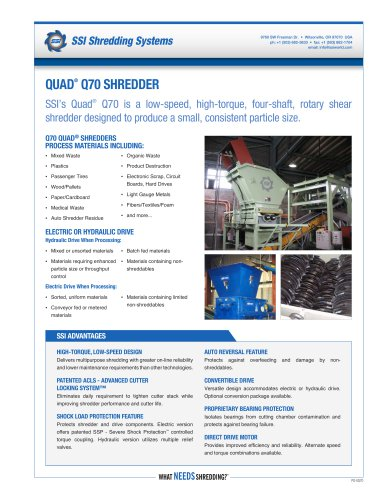 Quad® q70 SHREDDER