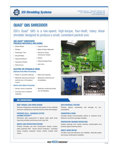 Quad® Q85 Four-Shaft Shredder