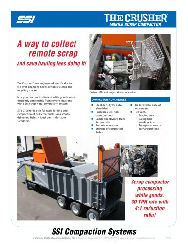 The Crusher™ Mobile Scrap Compactor