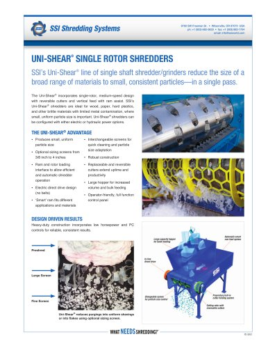 Uni-Shear®  Single Rotor Shredders