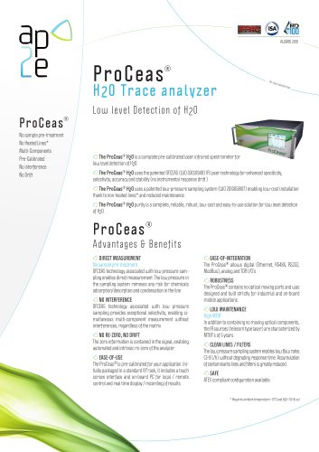 Analyseur ProCeas® H2O Trace