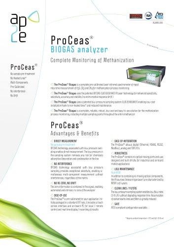 ProCeas® BIOGAS SYNGAS analyzer