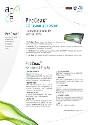 ProCeas CO  Trace analyzer