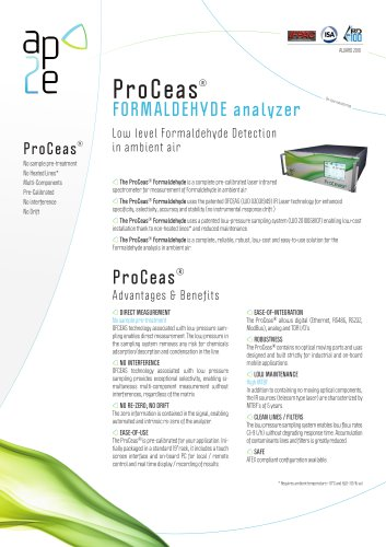 ProCeas FORMALDEHYDE  analyzer