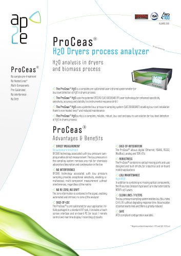ProCeas® H2O dryer analyzer
