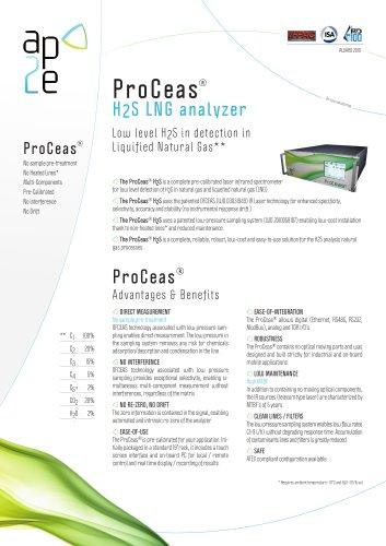 ProCeas H2S LNG  analyzer
