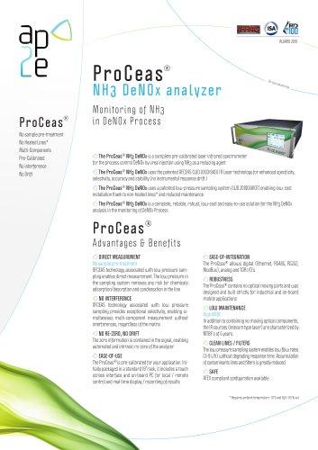 ProCeas® NH3 DeNOx analyzer