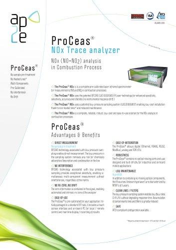 ProCeas NH3 DeNOx a nalyzer