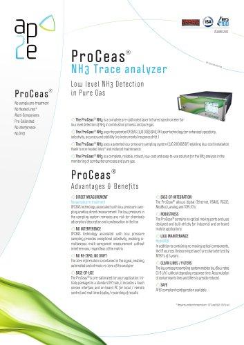 ProCeas NH3 Trace analyzer