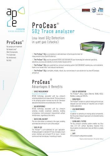 ProCeas® SO2 Trace analyzer