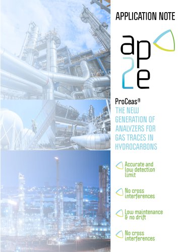 trace gas analysis in hydrocarbons - application note