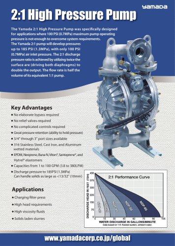 2:1 High Pressure Pump