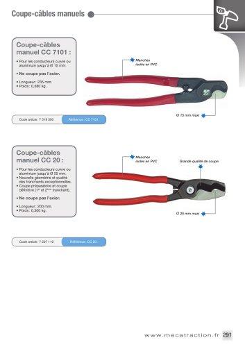 Coupe-câbles et outils de dénudage