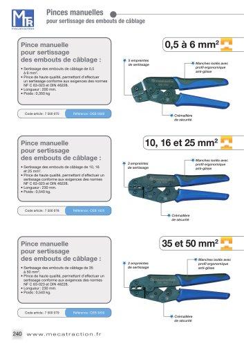 Outils pour emboûts de câbles