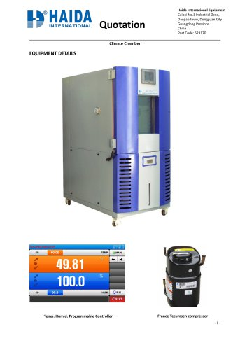 constant temperature and humidity machine