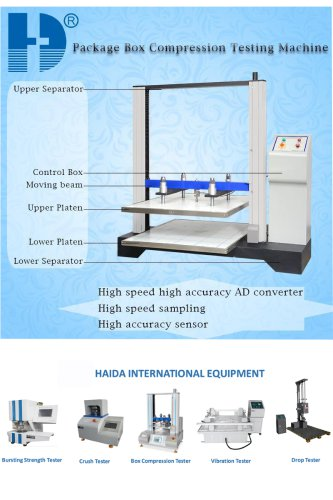 Panel Control Edge And Ring Crush Test Equipment with Servo Motor