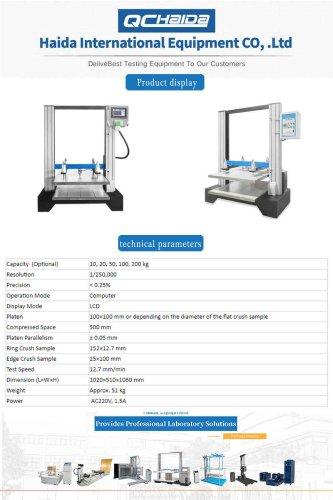 Paper Compression Test Machine