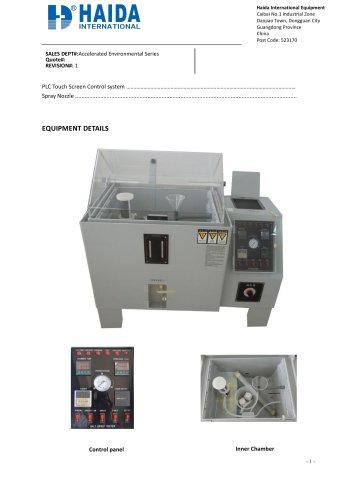 Salt spray chamber/Corrosion fog chamber