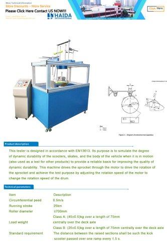 SCOOTER ENDURANCE TEST MACHINE