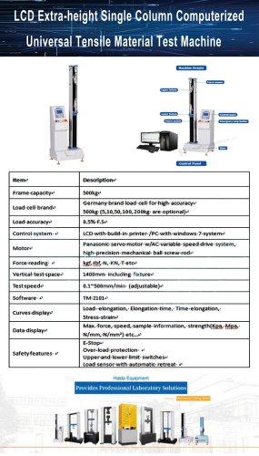Single Column Computerized Tensile Material Tester