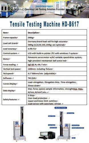 Tensile Testing Machine HD-B617