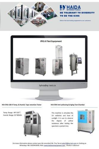 waterproof rain test equipment/IPX6 waterproof rain test