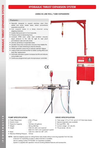 """Hydraulic """"Thrust"""" Tube Expansion Systems"""