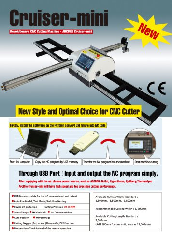Cruiser mini Portable Heavy duty CNC plasma and flame cutting machine