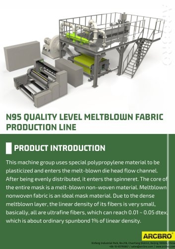 N95 QUALITY LEVEL MELTBLOWN FABRIC PRODUCTION LINE