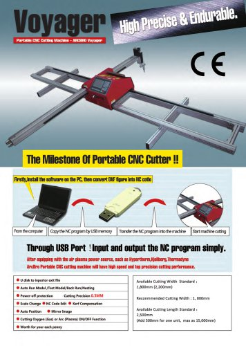 New Voyager Portable CNC Plasma Cutting Machine