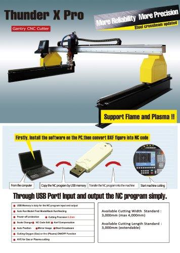 Thunder X Pro Gantry CNC plasma cutting machine