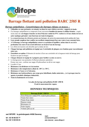 Barrages anti pollution