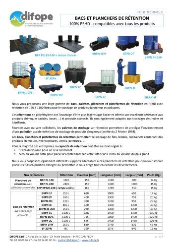 Catalogue DIFOPE bacs de rétention